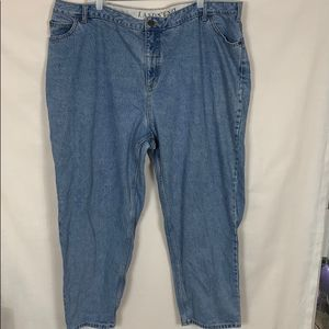 Lands' End High Waisted Mom Jeans Size 26W